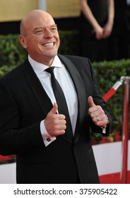 LOS ANGELES, CA - JANUARY 18, 2014: Dean Norris at the 20th Annual Screen Actors Guild Awards at the Shrine Auditorium.