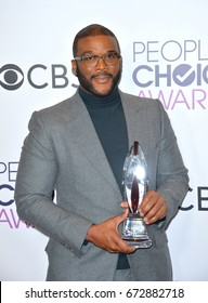 LOS ANGELES, CA - JANUARY 18, 2017: Tyler Perry at the 2017 People's Choice Awards at The Microsoft Theatre, L.A. Live, Los Angeles