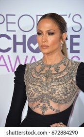 LOS ANGELES, CA - JANUARY 18, 2017: Jennifer Lopez at the 2017 People's Choice Awards at The Microsoft Theatre, L.A. Live, Los Angeles