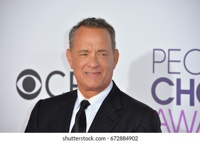 LOS ANGELES, CA - JANUARY 18, 2017: Tom Hanks at the 2017 People's Choice Awards at The Microsoft Theatre, L.A. Live, Los Angeles