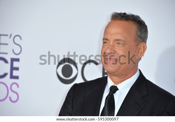 LOS ANGELES, CA. January 18, 2017: Actor Tom Hanks at the 2017 People's Choice Awards at The Microsoft Theatre, L.A. Live.