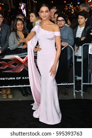 """LOS ANGELES, CA. January 19, 2017: Actress Deepika Padukone at the Los Angeles premiere of """"XXX: Return of Xander Cage"""" at the TCL Chinese Theatre, Hollywood."""