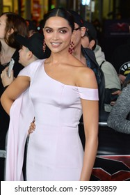 "LOS ANGELES, CA. January 19, 2017: Actress Deepika Padukone at the Los Angeles premiere of ""XXX: Return of Xander Cage"" at the TCL Chinese Theatre, Hollywood."
