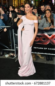 "LOS ANGELES, CA - JANUARY 19, 2017: Deepika Padukone at the Los Angeles premiere for ""XXX: Return of Xander Cage"" at the TCL Chinese Theatre, Hollywood."