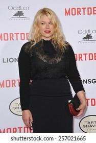 "LOS ANGELES, CA - JANUARY 21, 2015: Amanda de Cadenet at the Los Angeles premiere of ""Mortdecai"" at the TCL Chinese Theatre, Hollywood."
