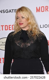 """LOS ANGELES, CA - JANUARY 21, 2015: Amanda de Cadenet at the Los Angeles premiere of """"Mortdecai"""" at the TCL Chinese Theatre, Hollywood."""