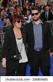 "LOS ANGELES, CA - JANUARY 23, 2011: Sharon Osbourne & son Jack Osbourne at the world premiere of ""Gnomeo & Juliet"" at the El Capitan Theatre, Hollywood. January 23, 2011  Los Angeles, CA"