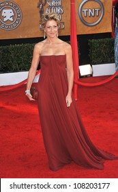 LOS ANGELES, CA - JANUARY 23, 2010: Edie Falco at the 16th Annual Screen Actors Guild Awards at the Shrine Auditorium.