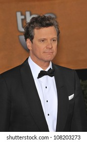 LOS ANGELES, CA - JANUARY 23, 2010: Colin Firth at the 16th Annual Screen Actors Guild Awards at the Shrine Auditorium.