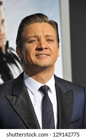 "LOS ANGELES, CA - JANUARY 24, 2013: Jeremy Renner at the Los Angeles premiere of his new movie ""Hansel & Gretel: Witch Hunters"" at Grauman's Chinese Theatre, Hollywood."