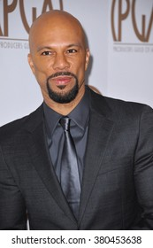 LOS ANGELES, CA - JANUARY 24, 2015: Common at the 26th Annual Producers Guild Awards at the Hyatt Regency Century Plaza Hotel.