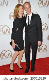 LOS ANGELES, CA - JANUARY 25, 2015: Rene Russo & husband Dan Gilroy at the 26th Annual Producers Guild Awards at the Hyatt Regency Century Plaza Hotel.