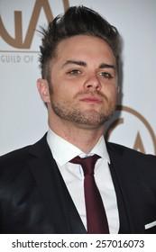 LOS ANGELES, CA - JANUARY 25, 2015: Thomas Dekker at the 26th Annual Producers Guild Awards at the Hyatt Regency Century Plaza Hotel.