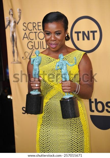 LOS ANGELES, CA - JANUARY 25, 2015: Uzo Aduba at the 2015 Screen Actors Guild  Awards at the Shrine Auditorium.