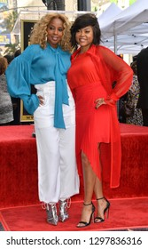 LOS ANGELES, CA. January 28, 2019: Mary J. Blige & Taraji P. Henson  at the Hollywood Walk of Fame Star Ceremony honoring Taraji P. Henson.