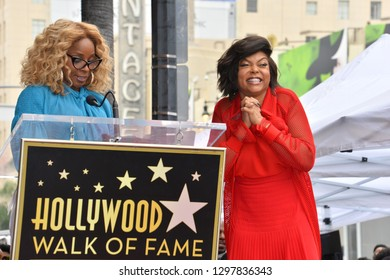 LOS ANGELES, CA. January 28, 2019: Taraji P. Henson & Mary J. Blige at the Hollywood Walk of Fame Star Ceremony honoring Taraji P. Henson.