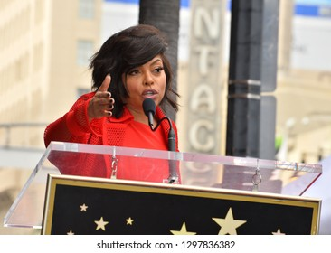 LOS ANGELES, CA. January 28, 2019: Taraji P. Henson at the Hollywood Walk of Fame Star Ceremony honoring Taraji P. Henson.