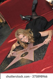 LOS ANGELES, CA - JANUARY 29, 2014: Cheryl Hines on Hollywood Boulevard where she was honored with the 2,516th star on the Hollywood Walk of Fame.