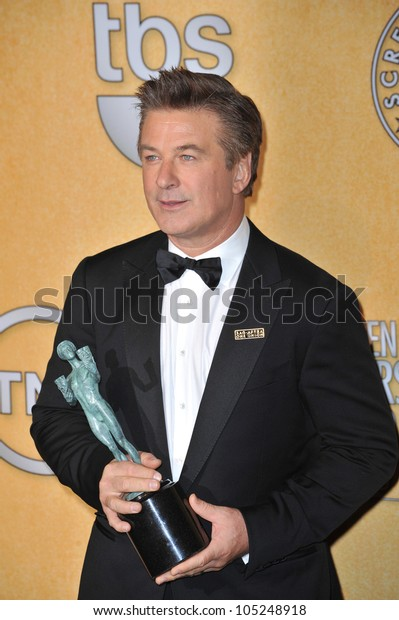 LOS ANGELES, CA - JANUARY 29, 2012: Alec Baldwin at the 17th Annual Screen Actors Guild Awards at the Shrine Auditorium, Los Angeles. January 29, 2012  Los Angeles, CA