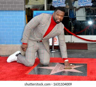 "LOS ANGELES, CA. January 30, 2020: Curtis 50 Cent Jackson at the Hollywood Walk of Fame Star Ceremony honoring Curtis ""50 Cent"" Jackson.