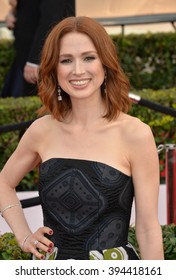 LOS ANGELES, CA - JANUARY 30, 2016: Actress Ellie Kemper at the 22nd Annual Screen Actors Guild Awards at the Shrine Auditorium