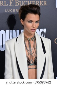 "LOS ANGELES, CA. January 30, 2017: Actress Ruby Rose at the premiere of ""John Wick Chapter Two"" at the Arclight Theatre, Hollywood."