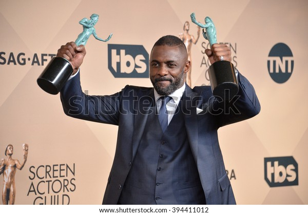 LOS ANGELES, CA - JANUARY 30, 2016: Idris Elba at the 22nd Annual Screen Actors Guild Awards at the Shrine Auditorium