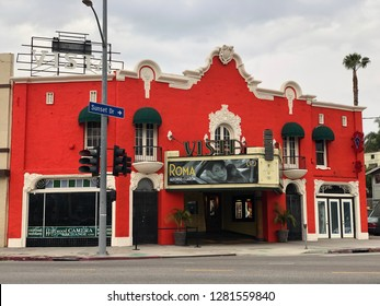 Los Angeles, CA: January 5, 2019: The Vista theatre in Los Angeles.  The Vista Theatre is a historic theater built in the 1920s.