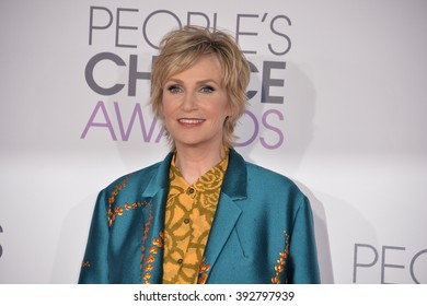LOS ANGELES, CA - JANUARY 6, 2016: Jane Lynch at the People's Choice Awards 2016 at the Microsoft Theatre LA Live.