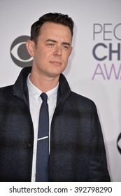 LOS ANGELES, CA - JANUARY 6, 2016: Colin Hanks at the People's Choice Awards 2016 at the Microsoft Theatre LA Live.