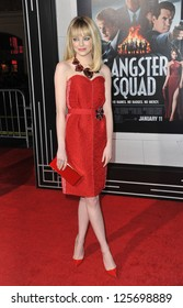 "LOS ANGELES, CA - JANUARY 7, 2013: Emma Stone at the world premiere of her movie ""Gangster Squad"" at Grauman's Chinese Theatre, Hollywood."