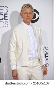 LOS ANGELES, CA - JANUARY 7, 2015: Ellen DeGeneres at the 2015 People's Choice  Awards at the Nokia Theatre L.A. Live downtown Los Angeles.