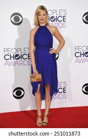 LOS ANGELES, CA - JANUARY 7, 2015: Beth Behrs at the 2015 People's Choice  Awards at the Nokia Theatre L.A. Live downtown Los Angeles.