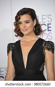 LOS ANGELES, CA - JANUARY 7, 2015: Cote de Pablo at the 2015 People's Choice  Awards at the Nokia Theatre L.A. Live downtown Los Angeles.