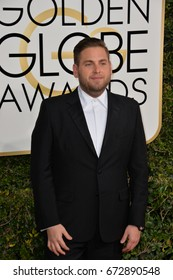LOS ANGELES, CA - JANUARY 8, 2017: Jonah Hill at the 74th Golden Globe Awards  at The Beverly Hilton Hotel, Los Angeles
