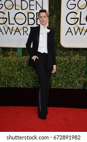 LOS ANGELES, CA - JANUARY 8, 2017: Evan Rachel Wood at the 74th Golden Globe Awards  at The Beverly Hilton Hotel, Los Angeles