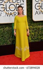 LOS ANGELES, CA - JANUARY 8, 2017: Natalie Portman at the 74th Golden Globe Awards  at The Beverly Hilton Hotel, Los Angeles