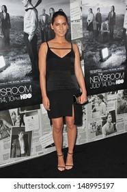 LOS ANGELES, CA - JULY 10, 2013: Olivia Munn at the season two premiere of HBO's The Newsroom at Paramount Studios, Hollywood.