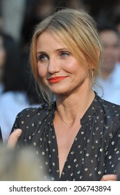 "LOS ANGELES, CA - JULY 10, 2014: Cameron Diaz at the world premiere of her movie ""Sex Tape"" at the Regency Village Theatre, Westwood."