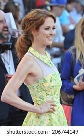 """LOS ANGELES, CA - JULY 10, 2014: Ellie Kemper at the world premiere of her movie """"Sex Tape"""" at the Regency Village Theatre, Westwood."""