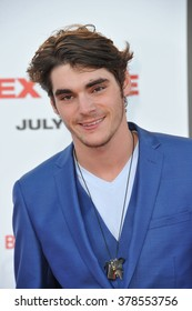 "LOS ANGELES, CA - JULY 10, 2014: RJ Mitte at the world premiere of ""Sex Tape"" at the Regency Village Theatre, Westwood."