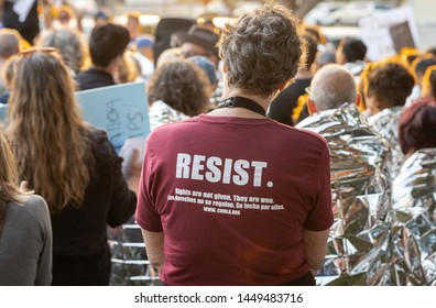 LOS ANGELES, CA - JULY 12, 2019: A  peaceful vigil in solidarity with those seeking asylum at our borders and detained in facilities was held at the Westchester Municiple Building ths evening.