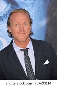 """LOS ANGELES, CA. July 12, 2017: Actor Jerome Flynn at the season seven premiere for """"Game of Thrones"""" at the Walt Disney Concert Hall, Los Angeles"""