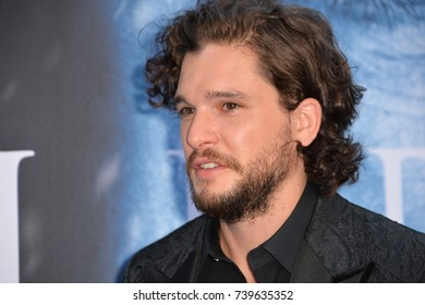 "LOS ANGELES, CA. July 12, 2017: Actor Kit Harington at the season seven premiere for ""Game of Thrones"" at the Walt Disney Concert Hall, Los Angeles"
