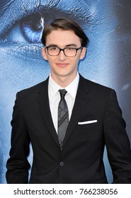 "LOS ANGELES, CA - July 12, 2017: Isaac Hempstead Wright at the season seven premiere for ""Game of Thrones"" at the Walt Disney Concert Hall"
