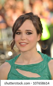 """LOS ANGELES, CA - JULY 13, 2010: Ellen Page at the Los Angeles premiere of her new movie """"Inception"""" at Grauman's Chinese Theatre, Hollywood."""