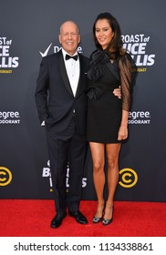 LOS ANGELES, CA - July 14, 2018: Bruce Willis & Emma Heming  at the Comedy Central Roast of Bruce Willis at the Hollywood Palladium