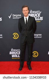 LOS ANGELES, CA - July 14, 2018: Edward Norton at the Comedy Central Roast of Bruce Willis at the Hollywood Palladium