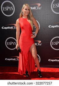 LOS ANGELES, CA - JULY 15, 2015: Skier Lindsey Vonn at the 2015 ESPY Awards at the Microsoft Theatre LA Live.