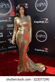 LOS ANGELES, CA - JULY 15, 2015: Kylie Jenner at the 2015 ESPY Awards at the Microsoft Theatre LA Live.